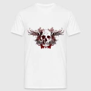 Dark Red Skull - Männer T-Shirt