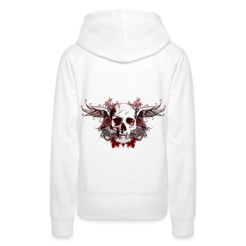 Dark Red Skull - Frauen Premium Hoodie