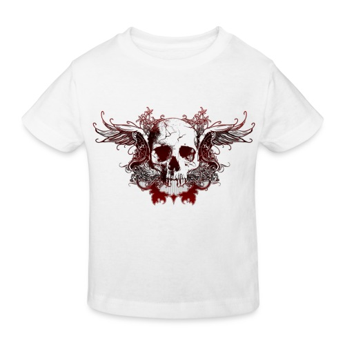 Dark Red Skull - Kinder Bio-T-Shirt