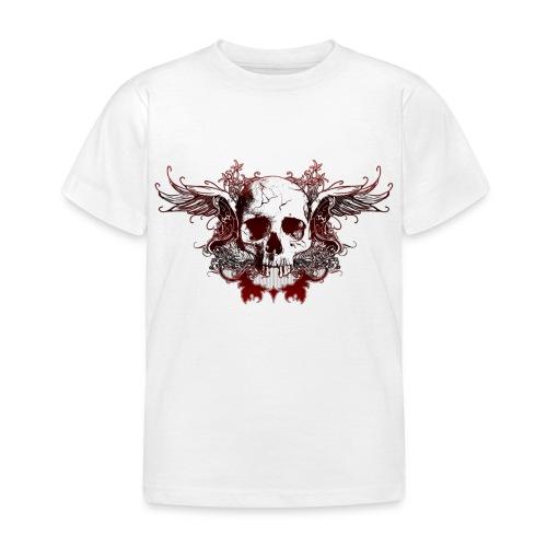 Dark Red Skull - Kinder T-Shirt