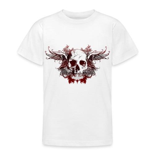 Dark Red Skull - Teenager T-Shirt