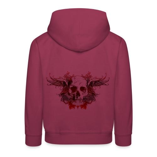 Dark Red Skull - Kinder Premium Hoodie
