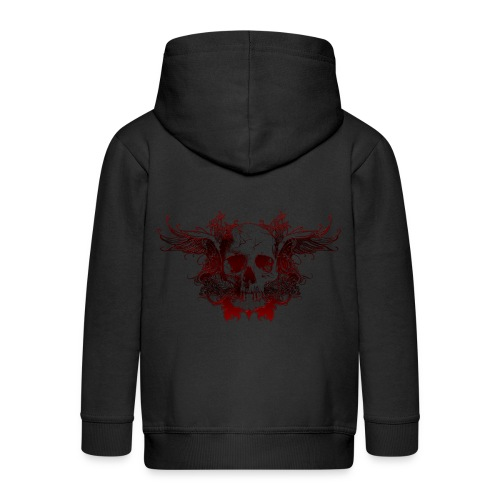 Dark Red Skull - Kinder Premium Kapuzenjacke