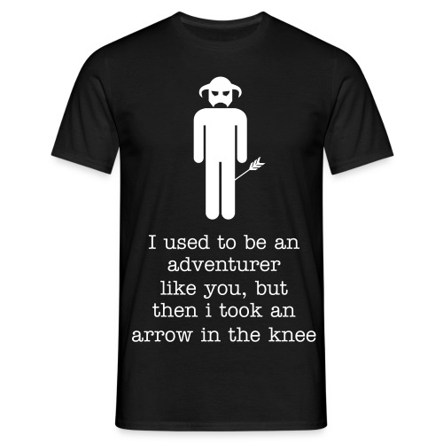 Arrow in the Knee - Male - Men's T-Shirt