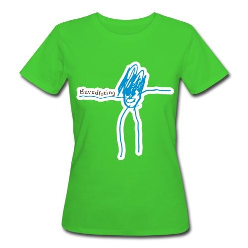 Huvudfoting T flock print - Women's Organic T-Shirt