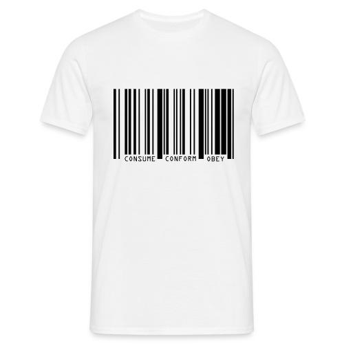 Consume Conform Obey (white) - Men's T-Shirt