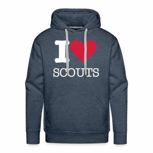 I love Scouts - Sweat-shirt à capuche Premium pour hommes