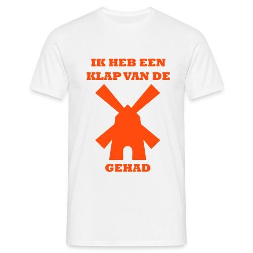 Koningsdag shirt: Ik heb een klap van de molen gehad - Mannen T-shirt