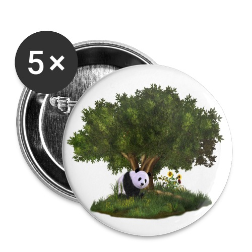 cute Panda - Buttons klein 25 mm (5er Pack)
