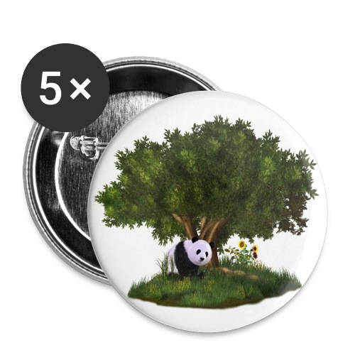 cute Panda - Buttons mittel 32 mm (5er Pack)