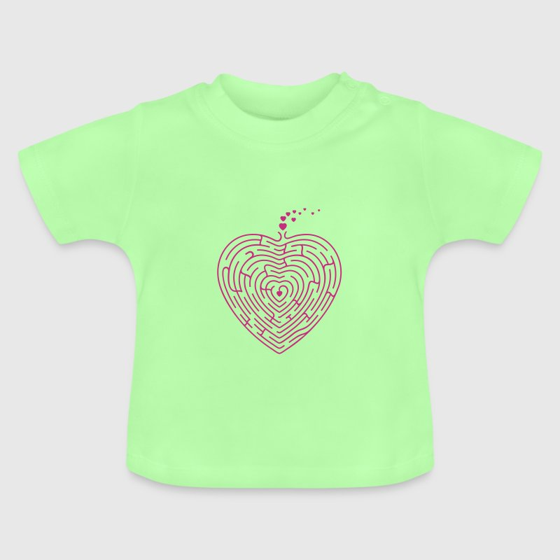 Labyrint hjerte / heart labyrint (1c) - Baby T-shirt