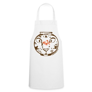 Hungry on white apron - Cooking Apron