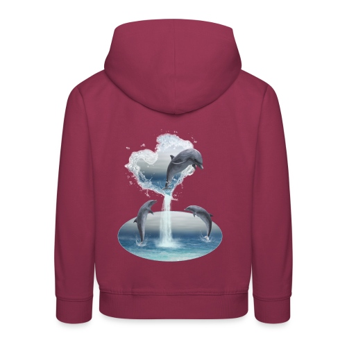 The Heart From The Dolphins - Kinder Premium Hoodie