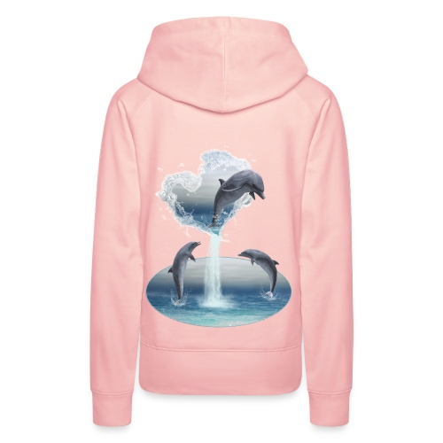 The Heart From The Dolphins - Frauen Premium Hoodie