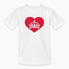 i love queen mom | crown | heart Kinder T-Shirts
