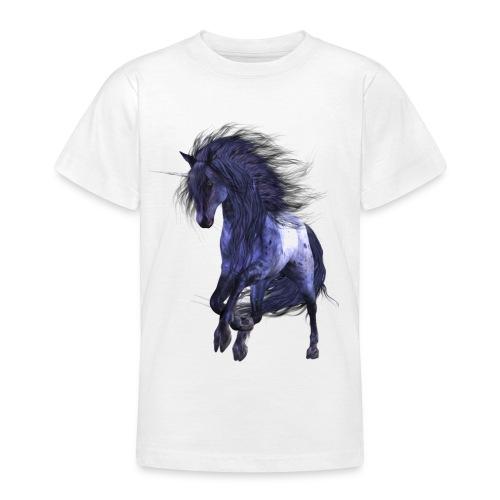 Blue Unicorn - Teenager T-Shirt