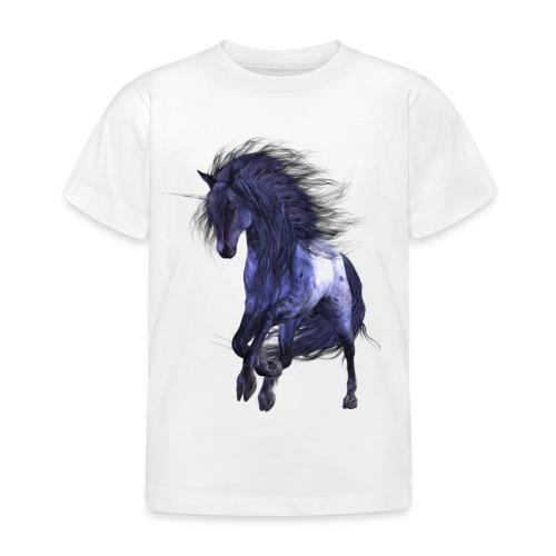 Blue Unicorn - Kinder T-Shirt