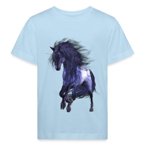 Blue Unicorn - Kinder Bio-T-Shirt