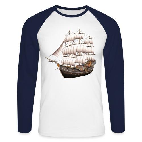 Old Sailboat - Männer Baseballshirt langarm