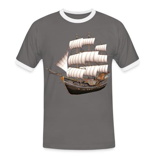 Old Sailboat - Männer Kontrast-T-Shirt