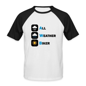AWB - All Weather Biker - Men's Baseball T-Shirt