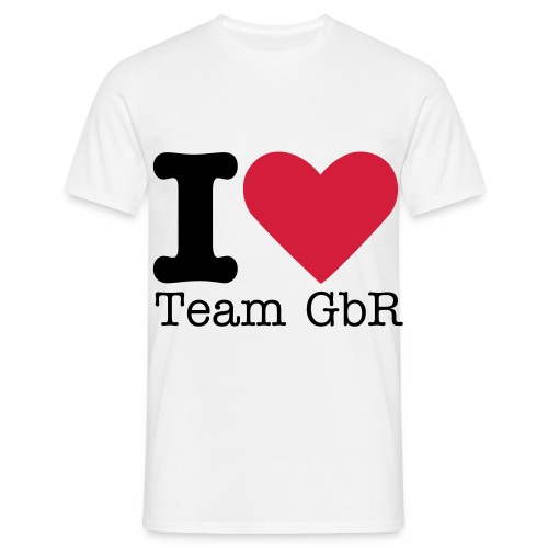 I Love Team GbR! - Men's T-Shirt