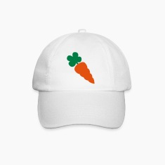 a carrot vegetable green and orange healthy Caps & Hats