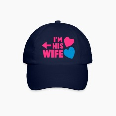 I'm his wife with arrow left and cute love hearts Caps & Hats