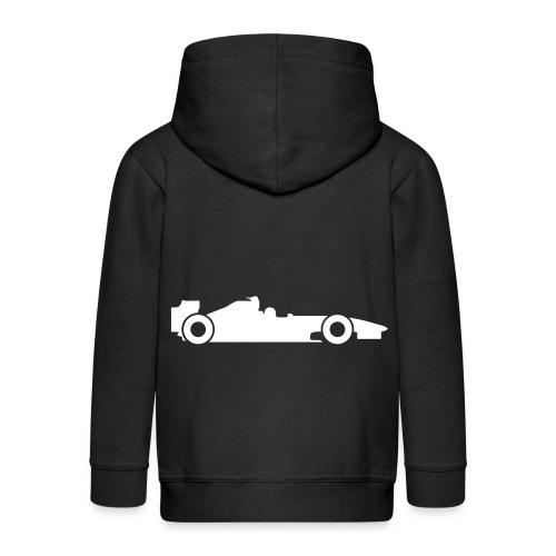 Trui zwart - raceauto  - Kinderen Premium jas met capuchon