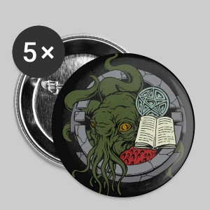 B56v2: Cthulhu still waiting in his house - Buttons large 56 mm