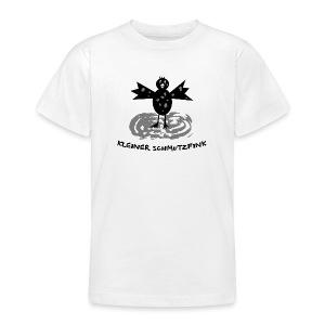 tier t-shirt kinder baby schmutzfink fink spatz dreckspatz schmutzig dreckig schmutz dreck - Teenager T-Shirt