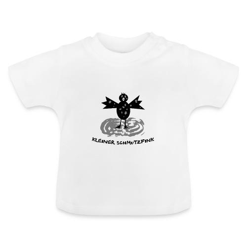 tier t-shirt kinder baby schmutzfink fink spatz dreckspatz schmutzig dreckig schmutz dreck - Baby T-Shirt