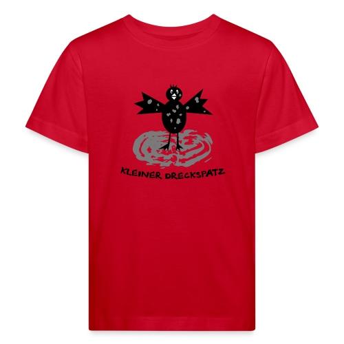 tier t-shirt kinder baby schmutzfink fink spatz dreckspatz schmutzig dreckig schmutz dreck - Kinder Bio-T-Shirt