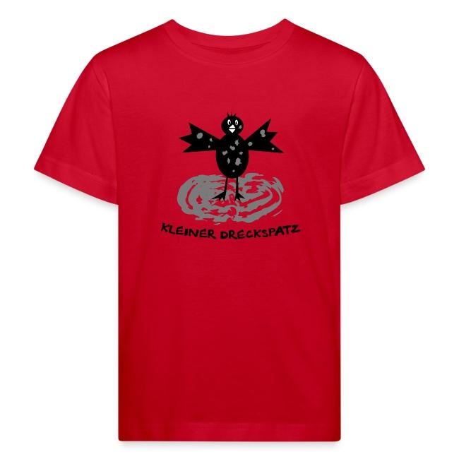 tier t-shirt kinder baby schmutzfink fink spatz dreckspatz schmutzig dreckig schmutz dreck