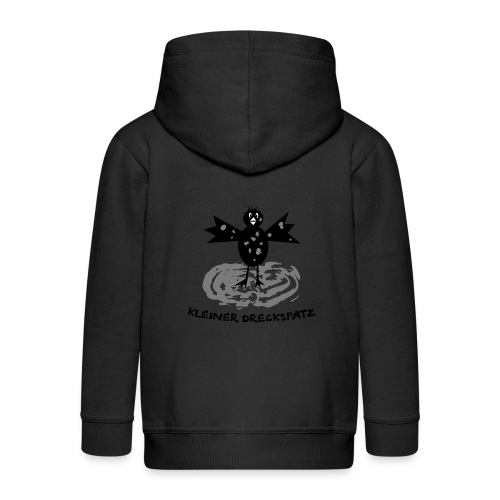tier t-shirt kinder baby schmutzfink fink spatz dreckspatz schmutzig dreckig schmutz dreck - Kinder Premium Kapuzenjacke