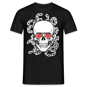 Skull wearing Union Jack Sunglasses - Men's T-Shirt