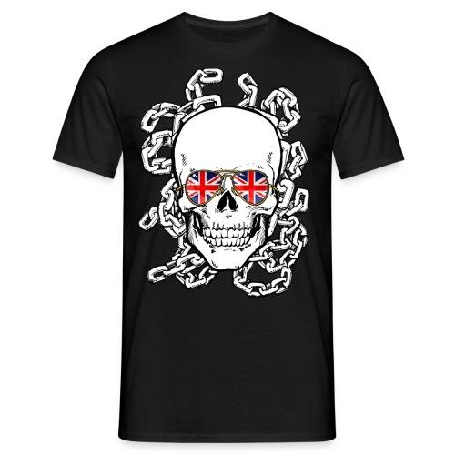 Skull wearing Union Jack Sunglasses - Men's T-Shirt