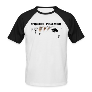 Poker player pour fond clair - T-shirt baseball manches courtes Homme