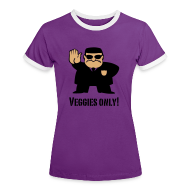 T-shirts ~ Vrouwen contrastshirt ~ T-shirt Veggies only!