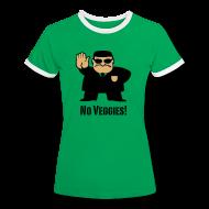 T-shirts ~ Vrouwen contrastshirt ~ T-shirt No Veggies!