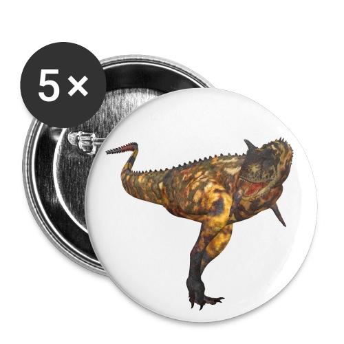 Carnotaurus - Buttons klein 25 mm (5er Pack)