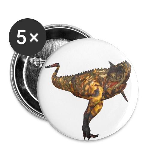 Carnotaurus - Buttons mittel 32 mm (5er Pack)