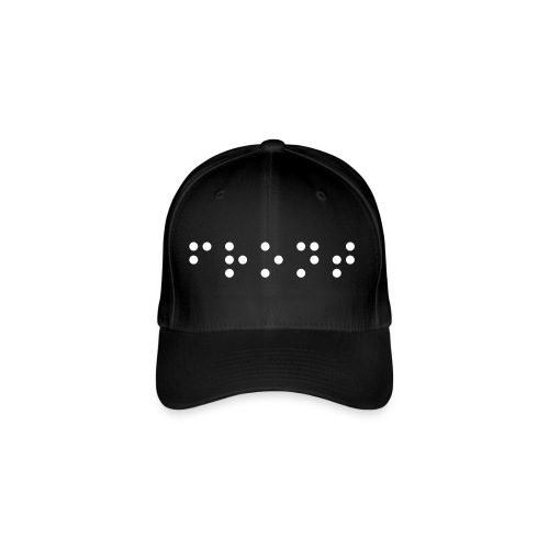 Flexfit Baseball Cap - Make sure you know which way to wear it with this MARTIKA Braille hat. Logo on front says 'FRONT' and logo on back says 'BACK'....you know....just in case ;)