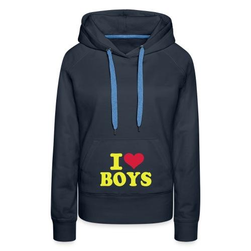 I ♥ Boys - Vrouwen Premium hoodie