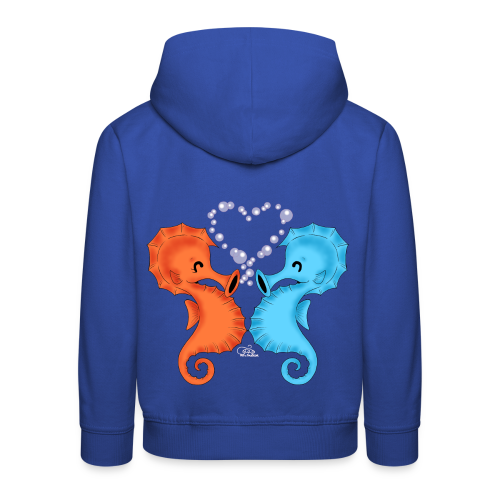 KinderShirt Seepferdchenliebe - Kinder Premium Hoodie