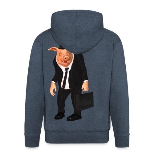Business Pig - Männer Premium Kapuzenjacke