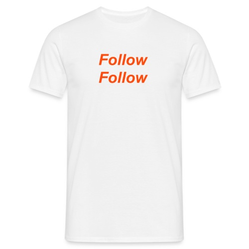 Follow Follow (Orange) - Men's T-Shirt