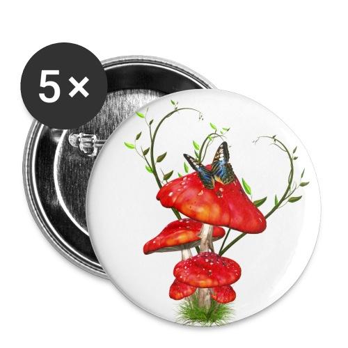 Toadstools - Buttons mittel 32 mm (5er Pack)