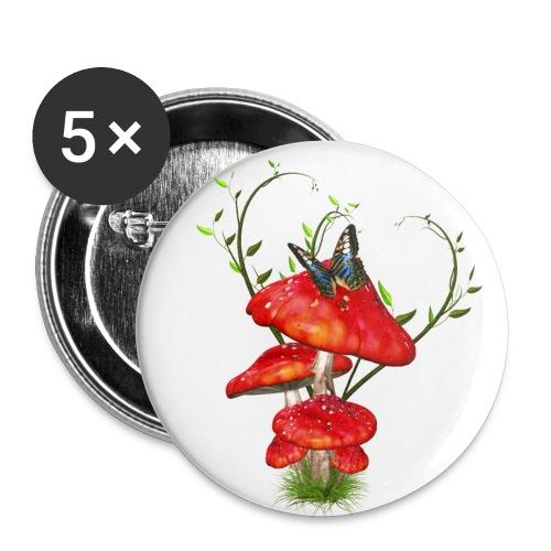 Toadstools - Buttons groß 56 mm (5er Pack)