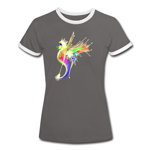 Colorful Dragon - Frauen Kontrast-T-Shirt
